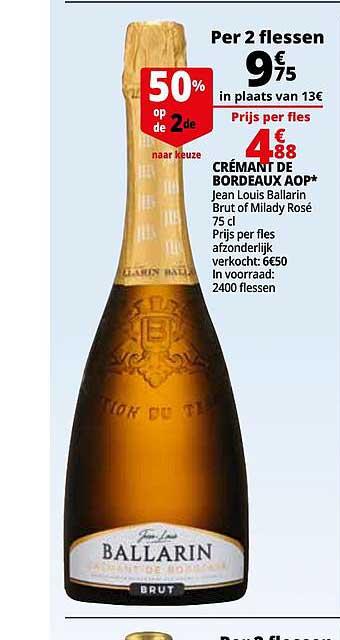 Auchan Cremant De Bordeaux Aop Jean Louis Ballarin