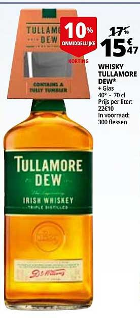 Auchan Whisky Tullamore Dew + Glas