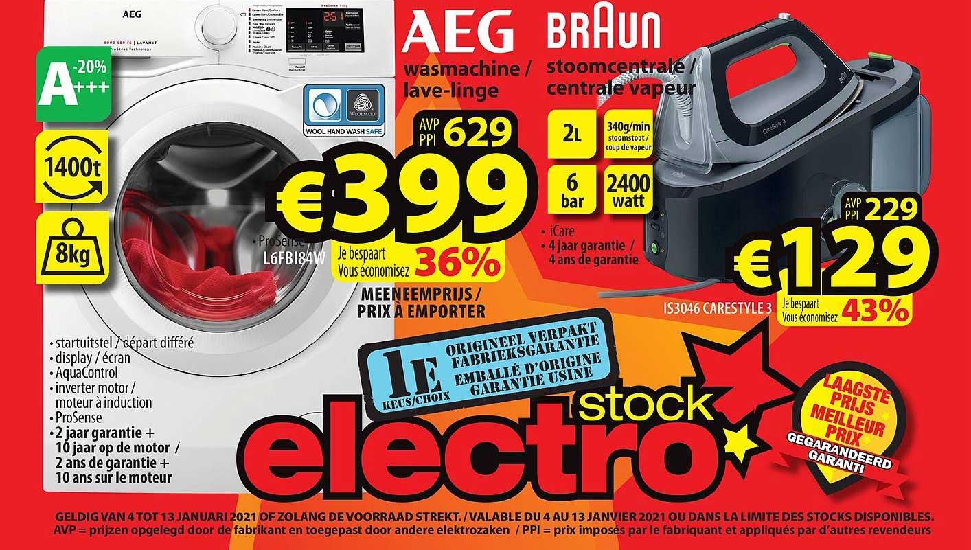 ElectroStock Aeg Wasmachine Of Braun Stoomcentrale