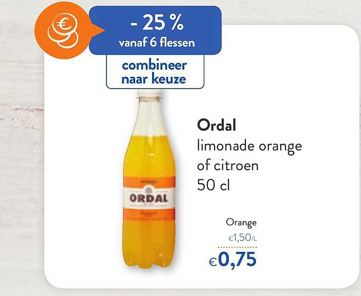 OKay Supermarkt Ordal Limonade Orange