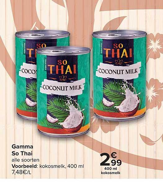 Carrefour Market Gamma So Thai Kokosmelk