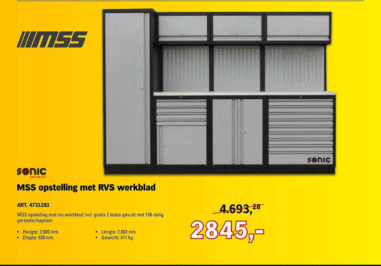 Toolspecial Mss Opstelling Met Rvs Werkblad Art 4731281