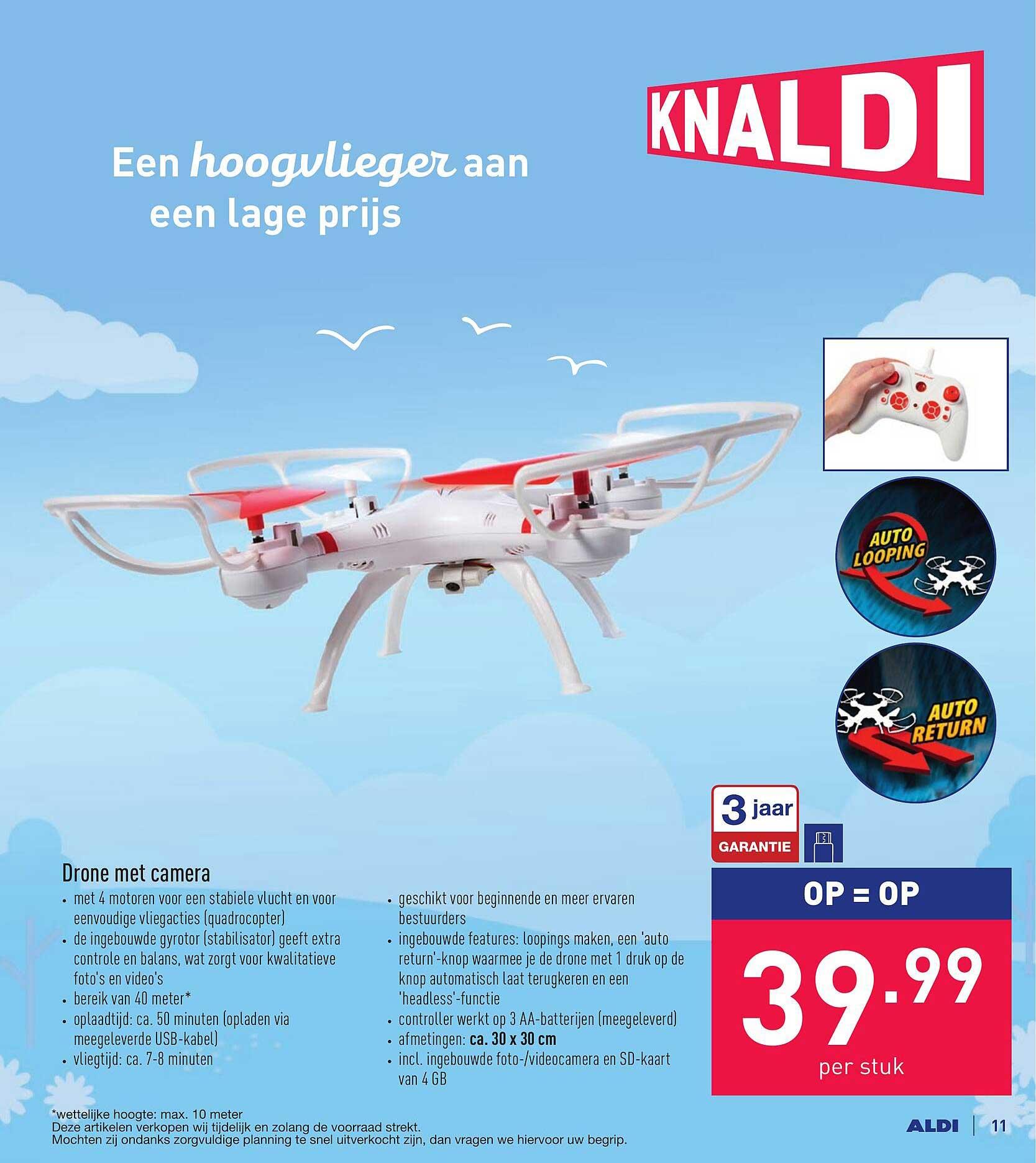 ALDI Drone Met Camera