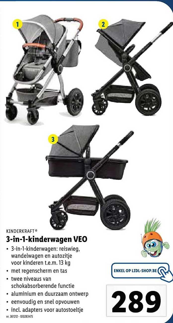 Lidl Kinderkraft 3-in-1 Kinderwagen Veo