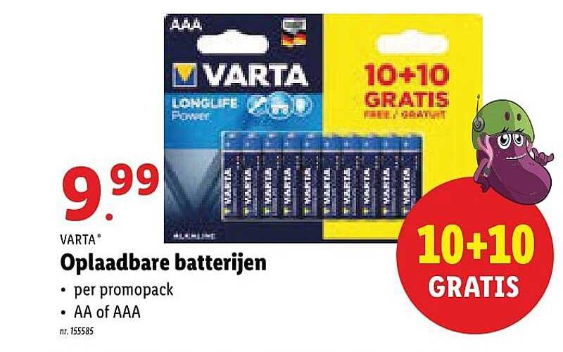 Lidl Varta Oplaadbare Batterijen
