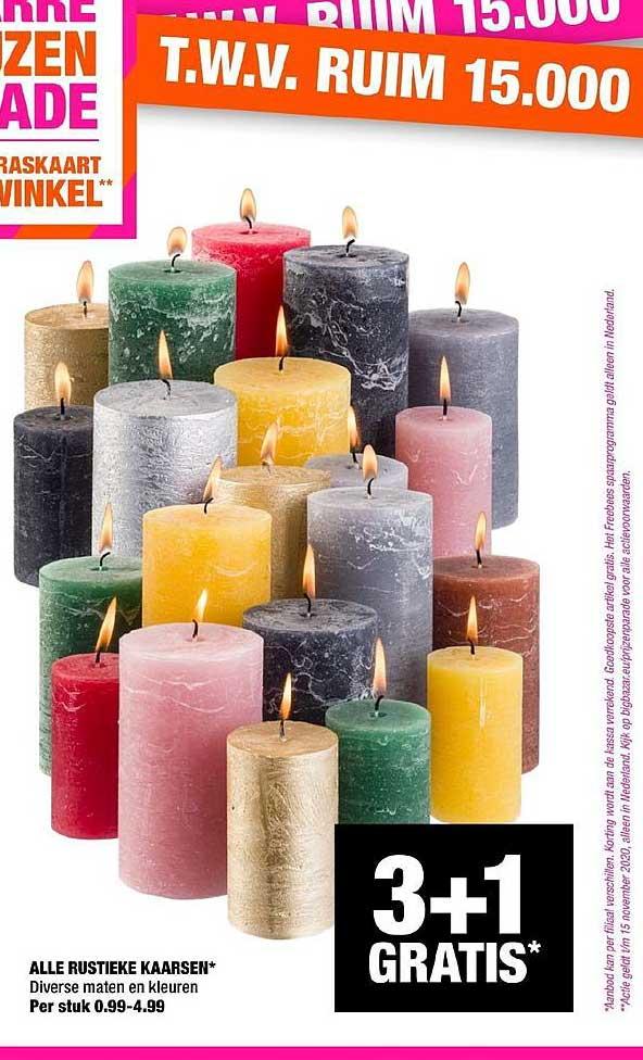 Big Bazar Alle Rustieke Kaarsen
