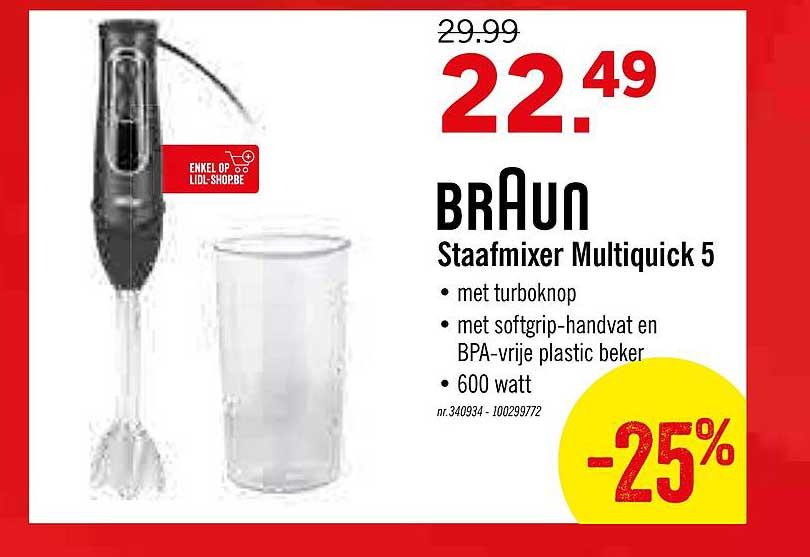 Lidl Braun Staafmixer Multiquick 5