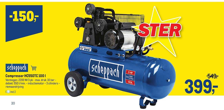 Makro Scheppach Compressor Hc550tc 100 L