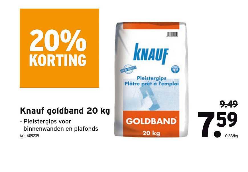 GAMMA 20% Korting Knauf Goldband 20 Kg