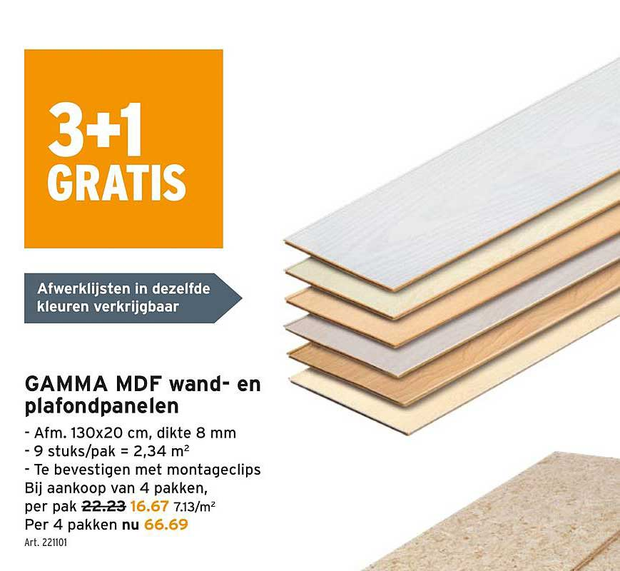 GAMMA Gamma Mdf Wand En Plafondpanelen