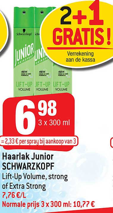 Smatch Haarlak Junior Schwarzkopf