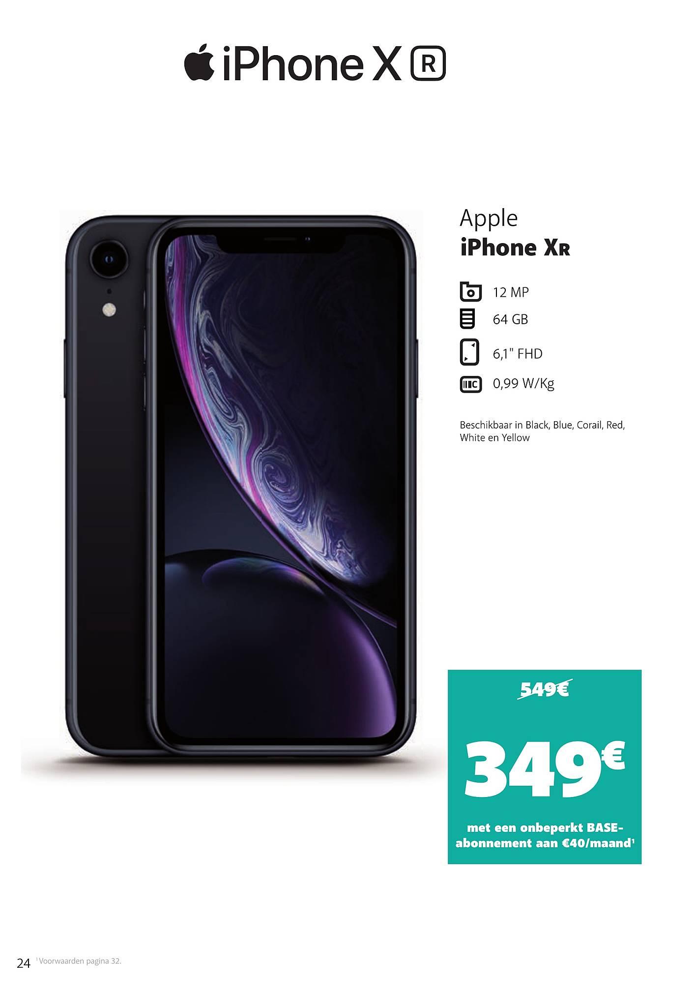Base Apple Iphone Xr 64 Gb