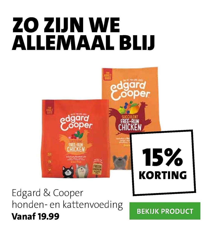 Intratuin Edgard & Cooper Honden- En Kattenvoeding 15% Korting