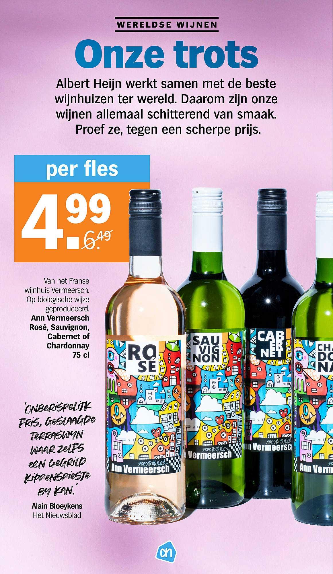 Albert Heijn Ann Vermeersch Rose, Sauvignon, Cabernet Of Chardonnay