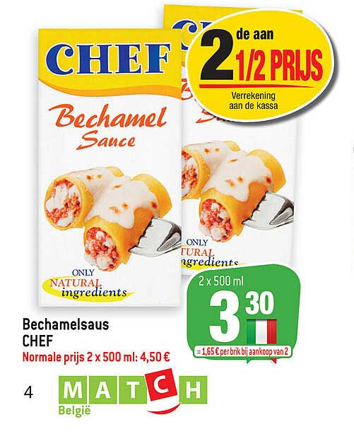 Match Bechamelsaus Chef
