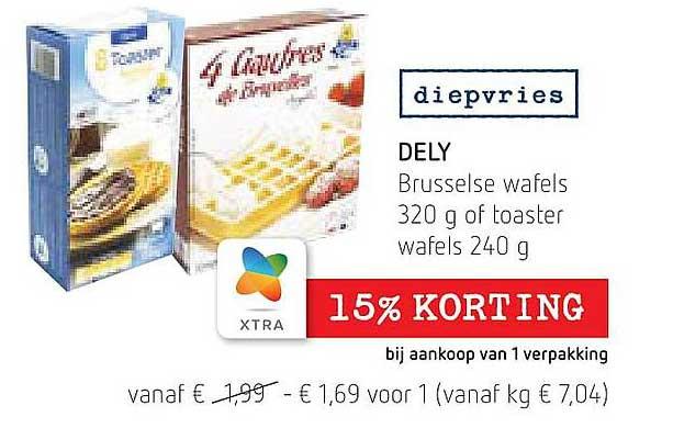 Spar Colruyt Dely Brusselse Wafels Of Toaster Wafels
