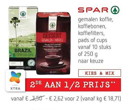 Spar Colruyt Gemalen Koffie, Koffiebonen, Koffiefilters