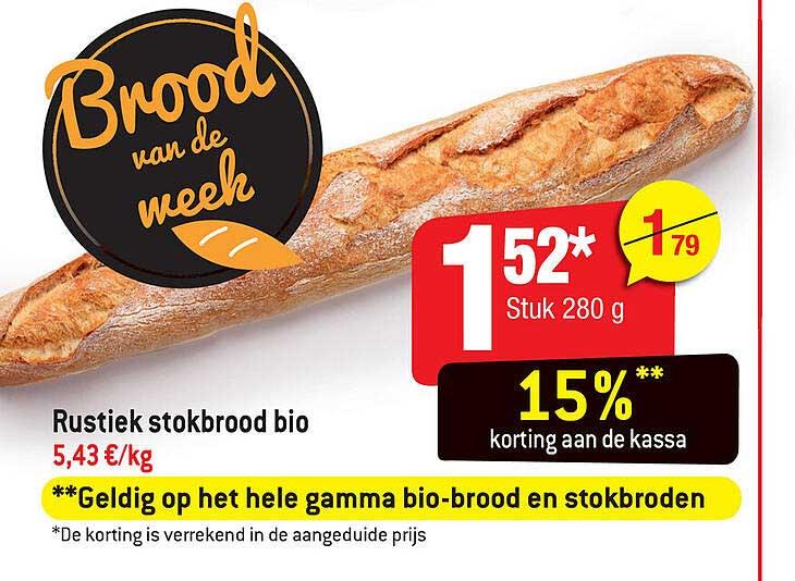 Smatch Rustiek Stokbrood Bio