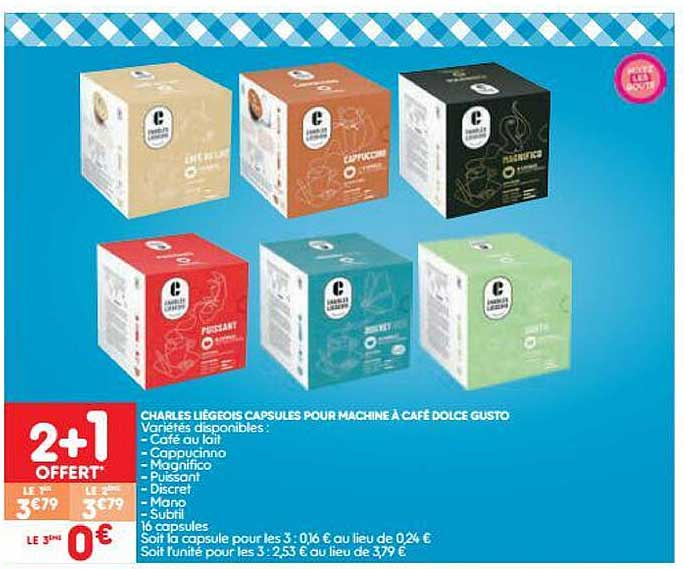 Leader Price Charles Liegeois Capsules Pour Machine A Cafe Dolce Gusto