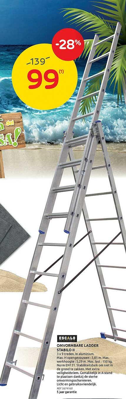 Brico Escalo Omvormbare Ladder Stabilo Ii