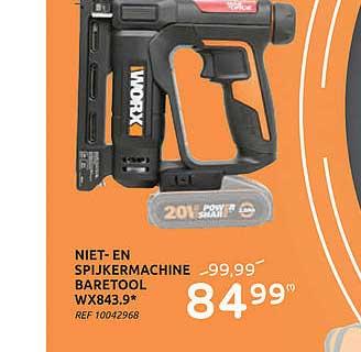 Brico Niet-en Spijkermachine Baretool Wx843.9