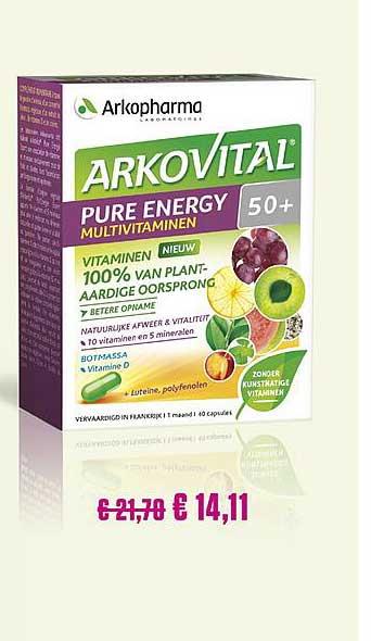 Medi Market Arkopharma Arkovital Pure Energy Vitaminen 50+