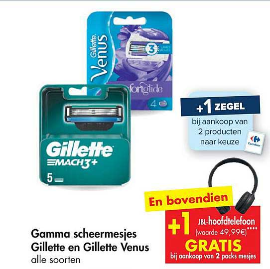 Carrefour Market Gamma Scheermesjes Gillette En Gillette Venus