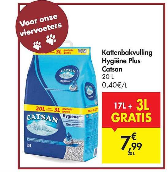 Carrefour Market Kattenbakvulling Hygiene Plus Catsan