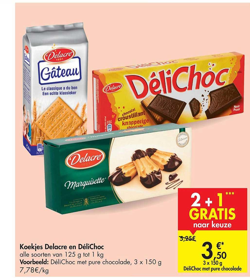 Carrefour Market Koekjes Delacre En Delichoc