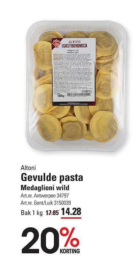 ISPC Altoni Gevulde Pasta Medaglioni Wild