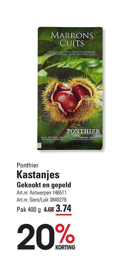 ISPC Ponthier Kastanjes Gekookt En Gepeld