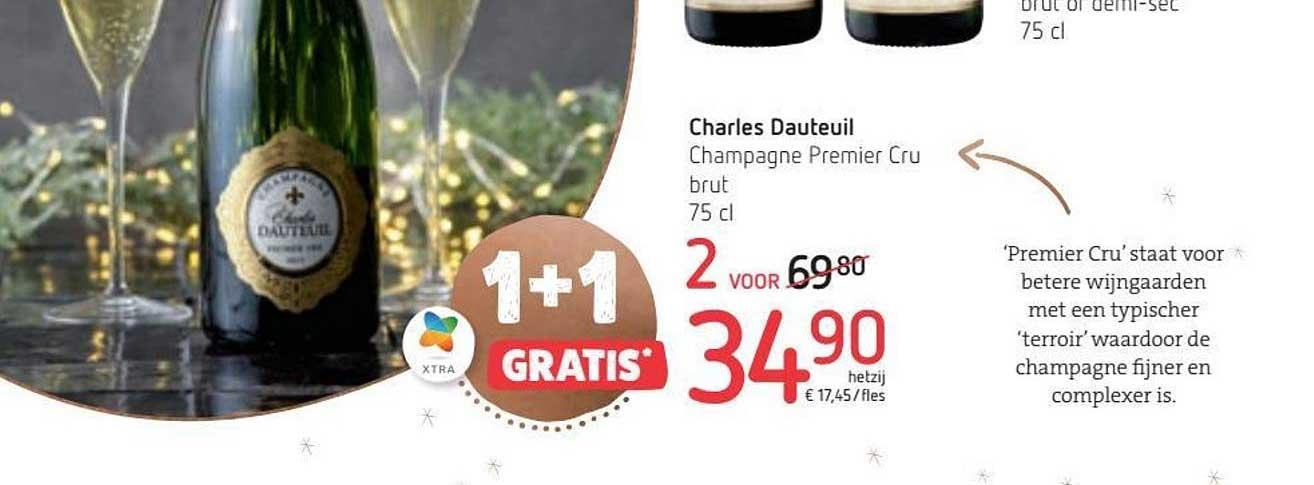Spar Colruyt 1+1 Gratis Charles Dauteuil Champagne Premier Cru