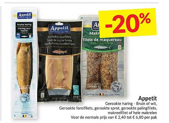 Intermarché Appetit Gerookte Haring