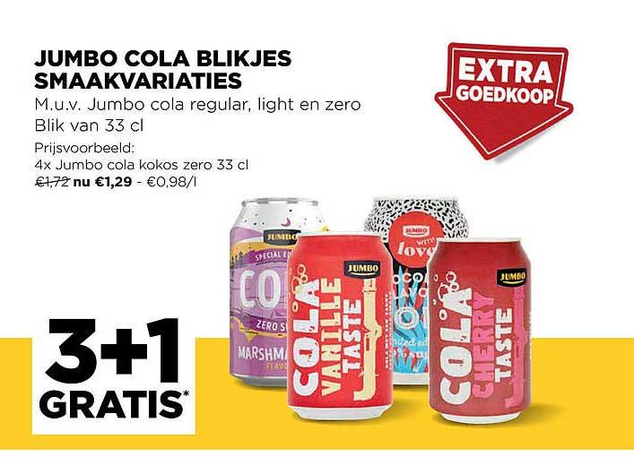 Jumbo Jumbo Cola Blikjes Smaakvariaties