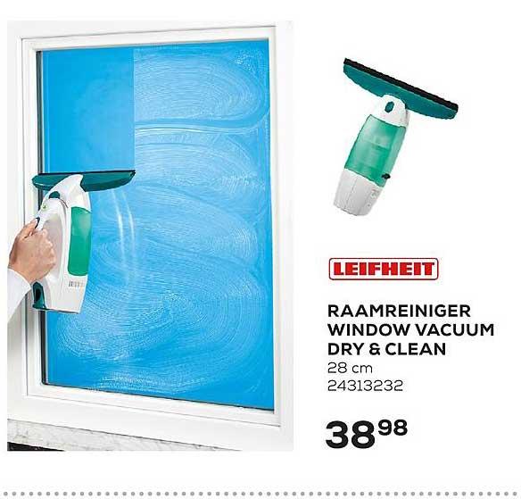 Supra Bazar Leifheit Raamreiniger Window Vacuum Dry & Clean