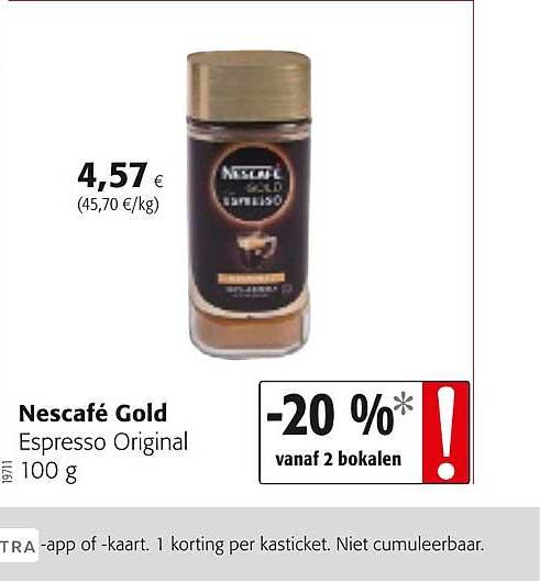 Colruyt Nescafe Gold Espresso Original