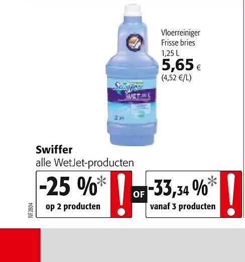 Colruyt Swiffer Alle Wetjet Producten, Vloerreiniger Frisse Bries