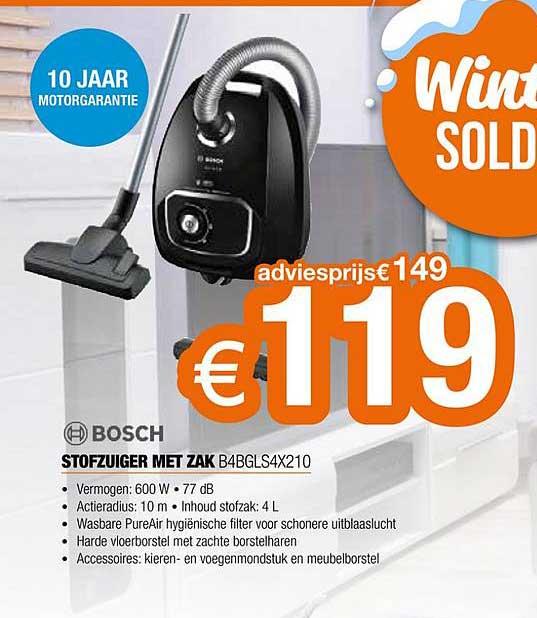 Expert Bosch Stofzuiger Met Zak B4bgls4x210