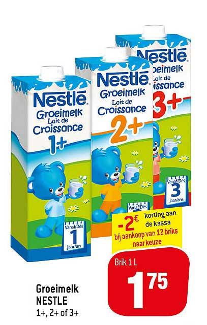 Match Groeimelk Nestle 1+, 2+1 Of 3+