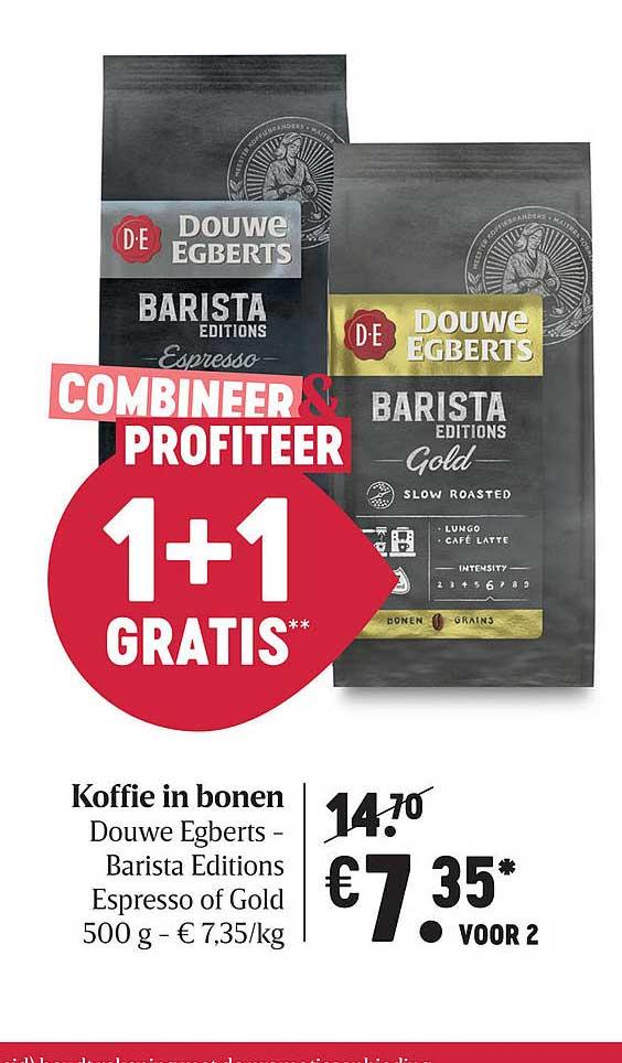 Delhaize Koffie In Bonen Douwe Egberts- Barista Editions Espresso Of Gold 500 G