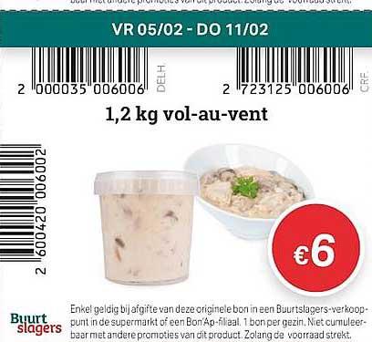 Buurtslagers 1,2 Kg Vol-au-vent