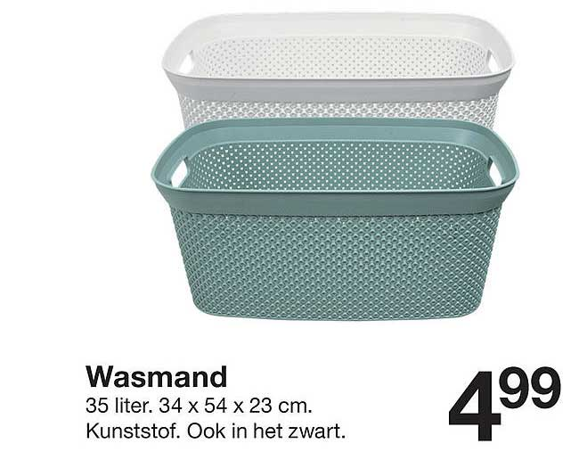 Zeeman Wasmand 35 Liter