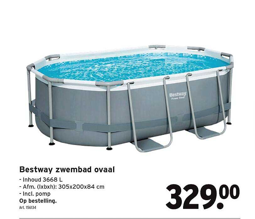 GAMMA Bestway Zwembad Ovaal 305x200x84 Cm