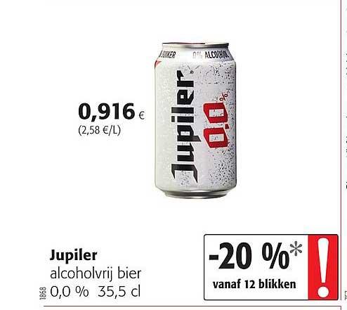 Colruyt Jupiler Alcoholvrij Bier 0,0 %