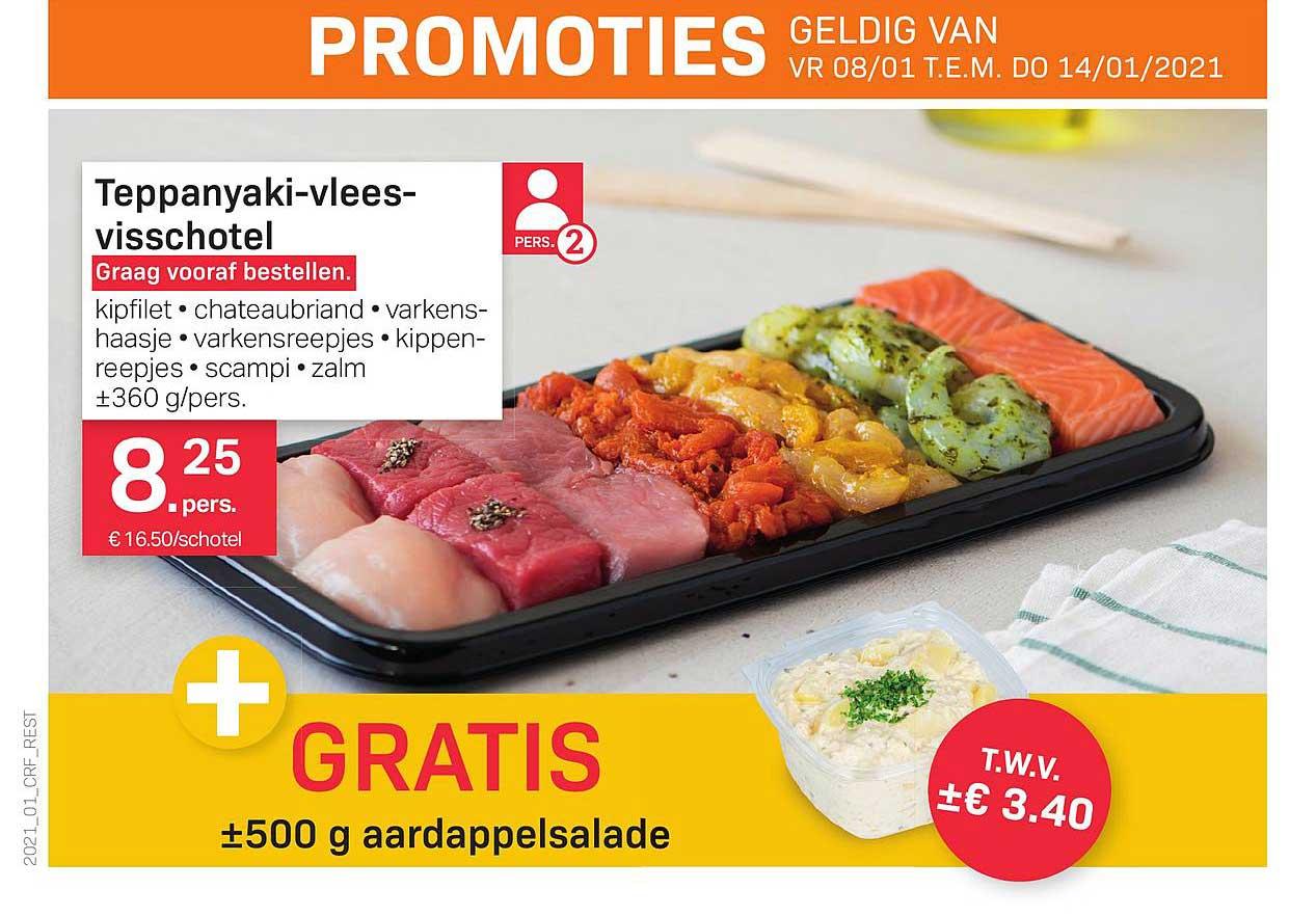 Buurtslagers Teppanyaki-vlees Visschotel