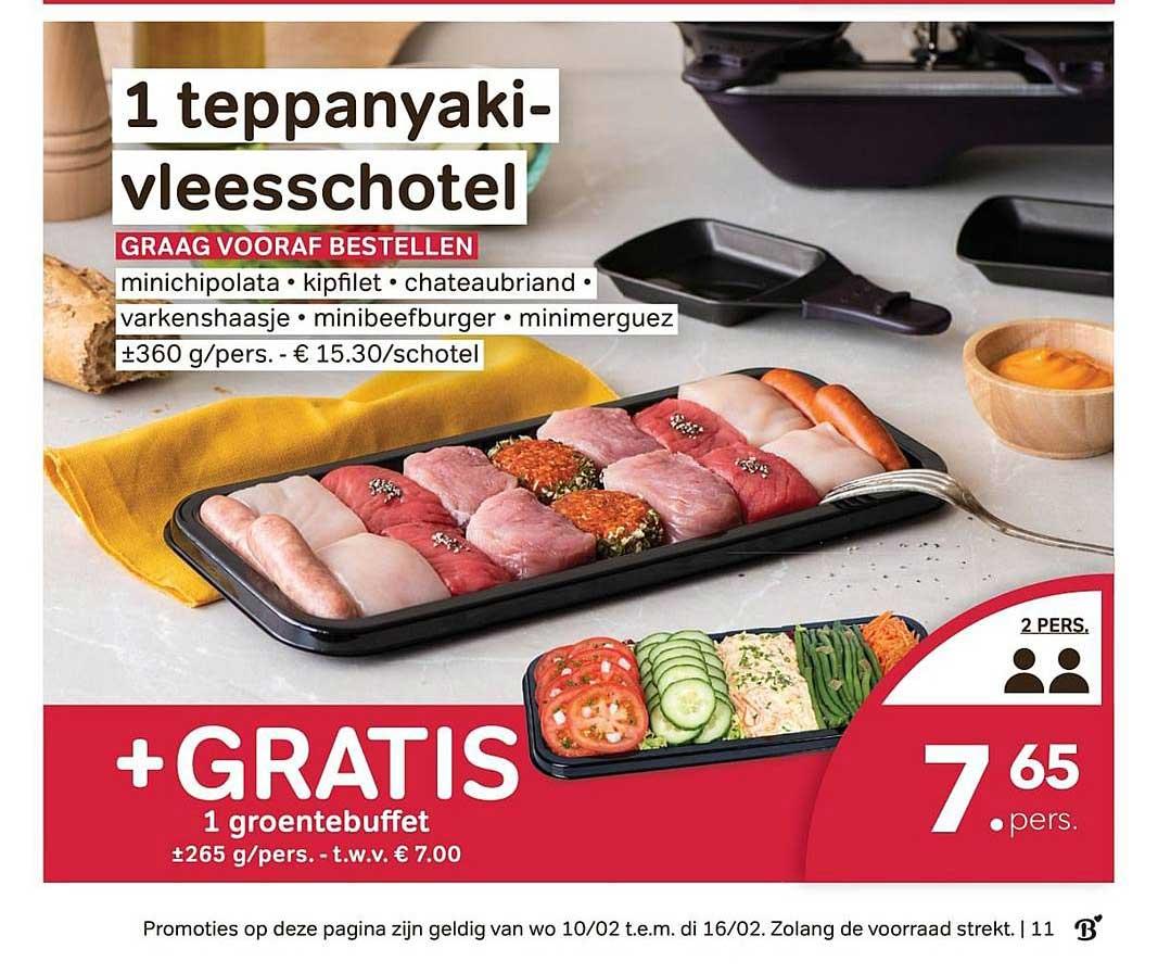 Bon Ap 1 Teppanyaki Vleesschotel