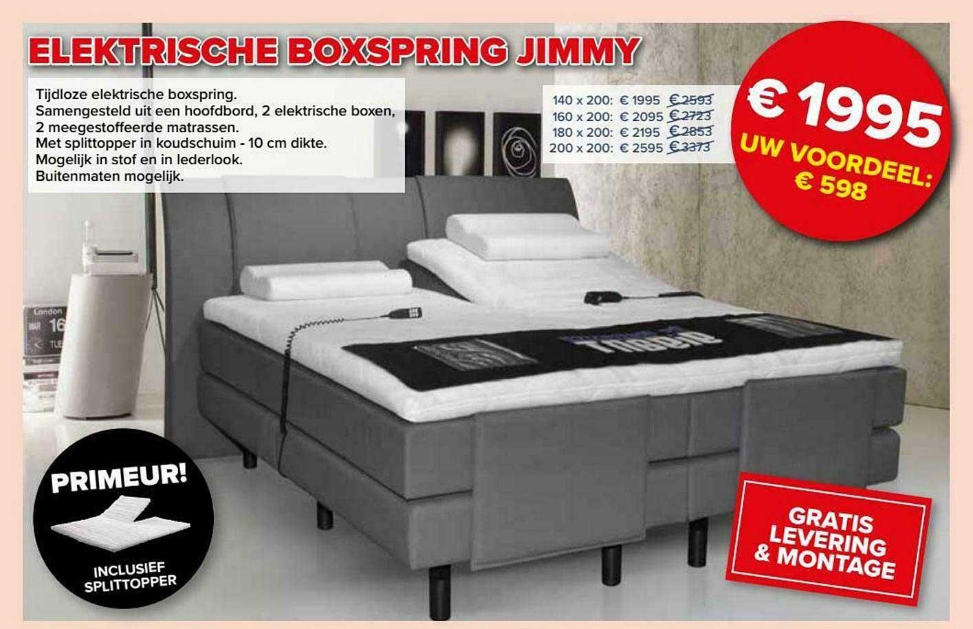 De Matrassen Gigant Elektrische Boxspring Jimmy