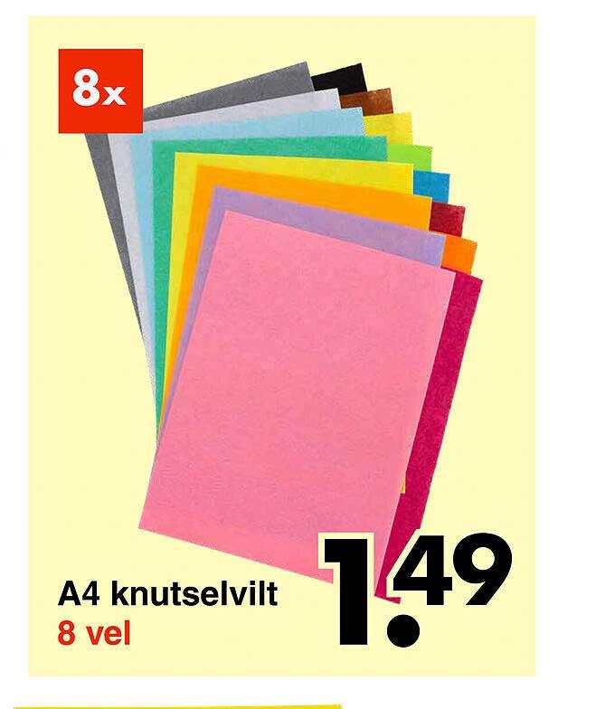 Wibra A4 Knutselvilt