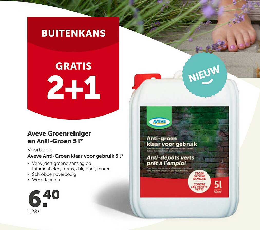 AVEVE Aveve Groenreiniger En Anti-groen 5 L