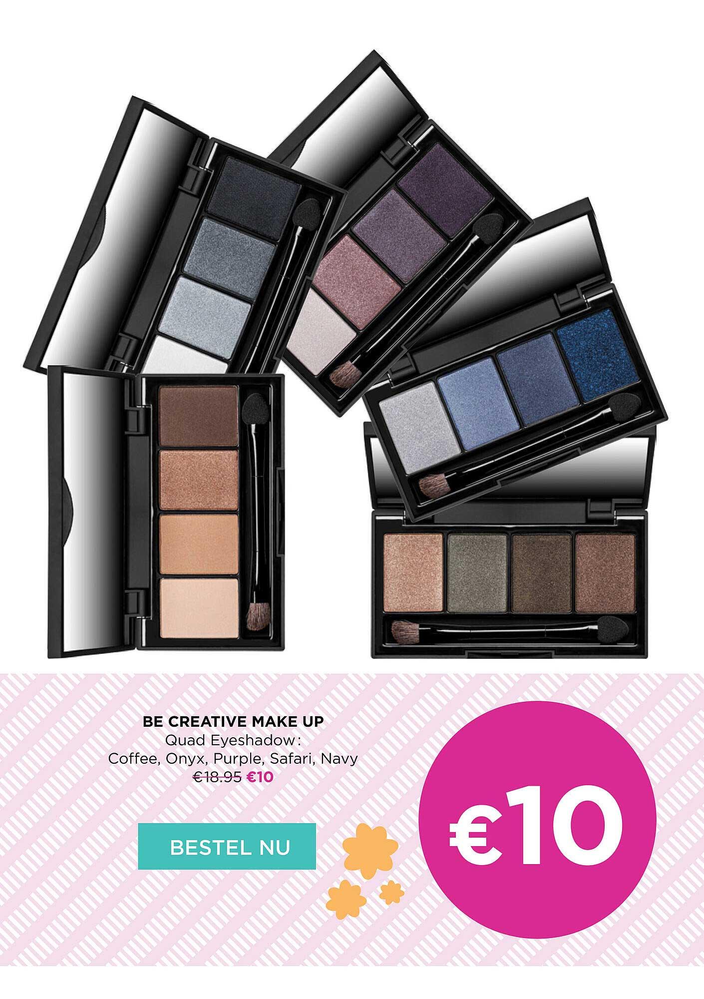 ICI PARIS XL Be Creative Make Up Quad Eyeshadow
